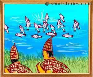 three-fish-panchatantra-tales-shortstoriescoin-image2