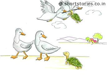 turtle_swans-panchatantra-tales-shortstoriescoin-image1