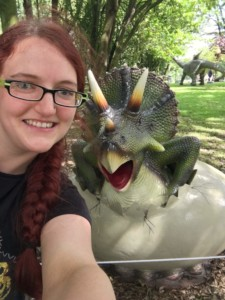 Baby Triceratops and me at Blackpool Jurassic Kingdom Tour 2017