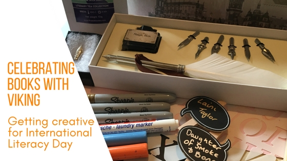 A selection of creative goodies sent to me from Viking Direct as part of their International Literacy Day campaign with the caption Celebrating books with Viking, getting creative for International Literacy Day