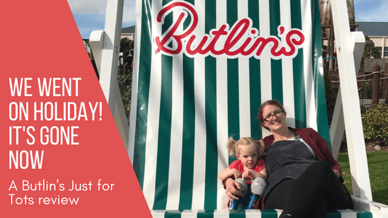 Spike and Mummy on the Butlins Deckchair while on our Butlin's Just for Tots holiday