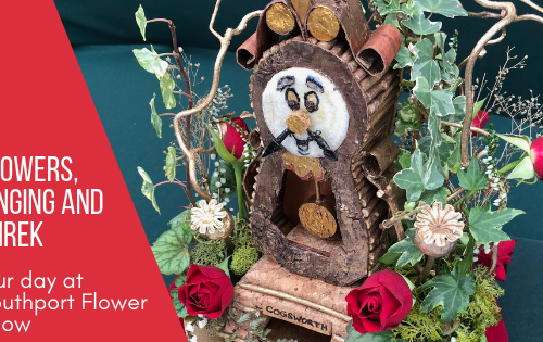 Cogsworth inspired flower display at Southport Flower Show