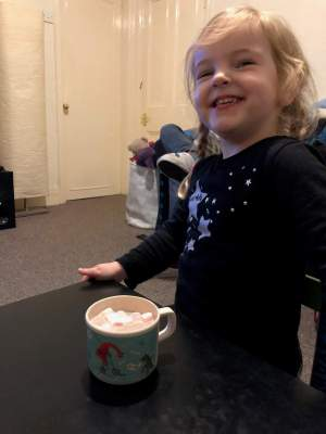 There's nothing like tasting your first cup of hot chocolate