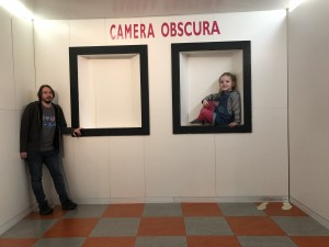 Huge Spike with small daddy at Camera Obscura World of Illusions in Edinburgh - a great day out for the whole family
