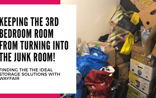 Keeping the 3rd bedroom from turning into a junk room - finding the right storage solution with Wayfair