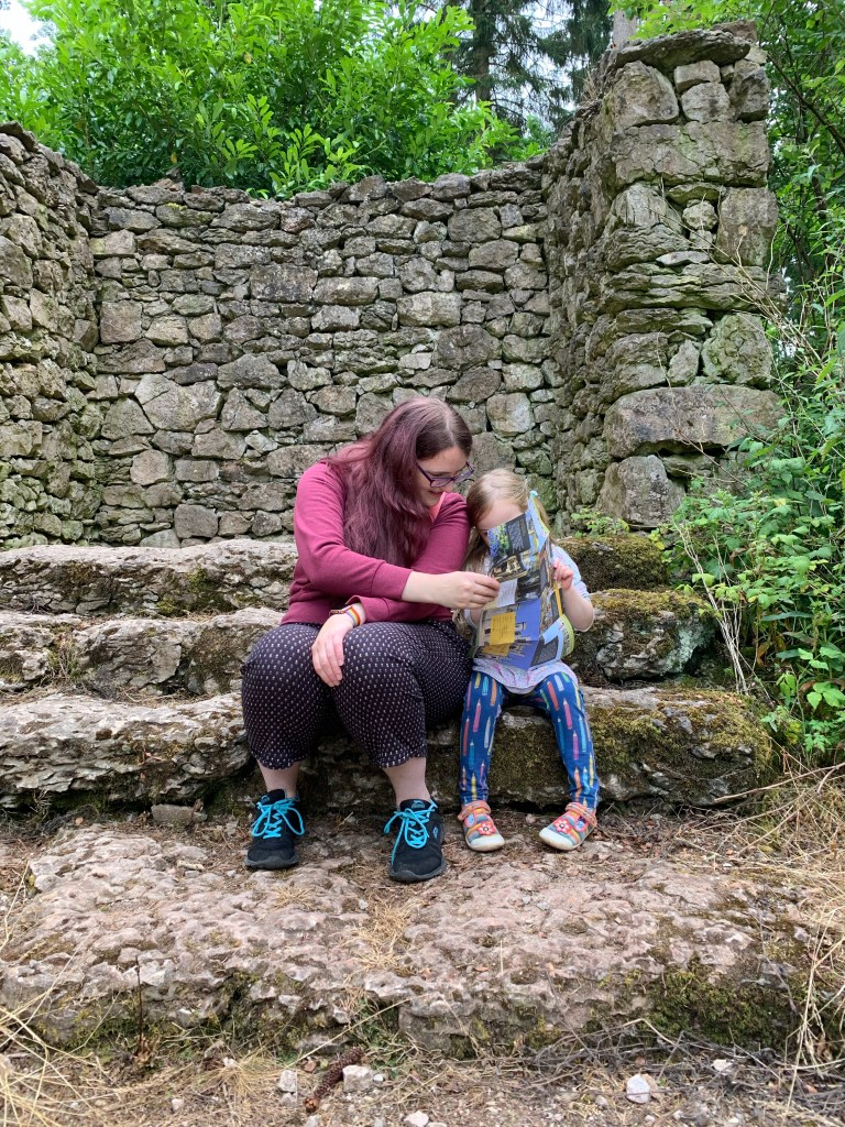 Mummy and Spike at Lowther Castle