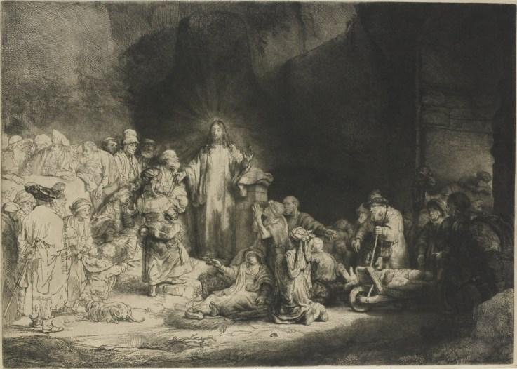 Rembrandt: Christ Healing the Sick