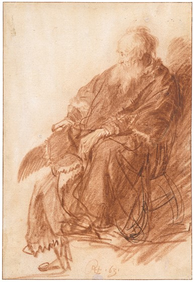 rembrandt-old-man-seated