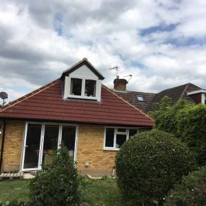Builders building construction Loft conversion and extension project at Croham Valley Road, South Croydon CR0