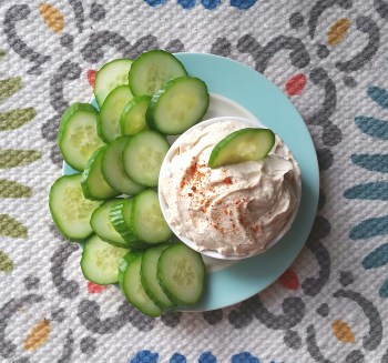 Mediterranean Cucumber Dip: 4 Ingredients for Guilt-free, Happy Snacking