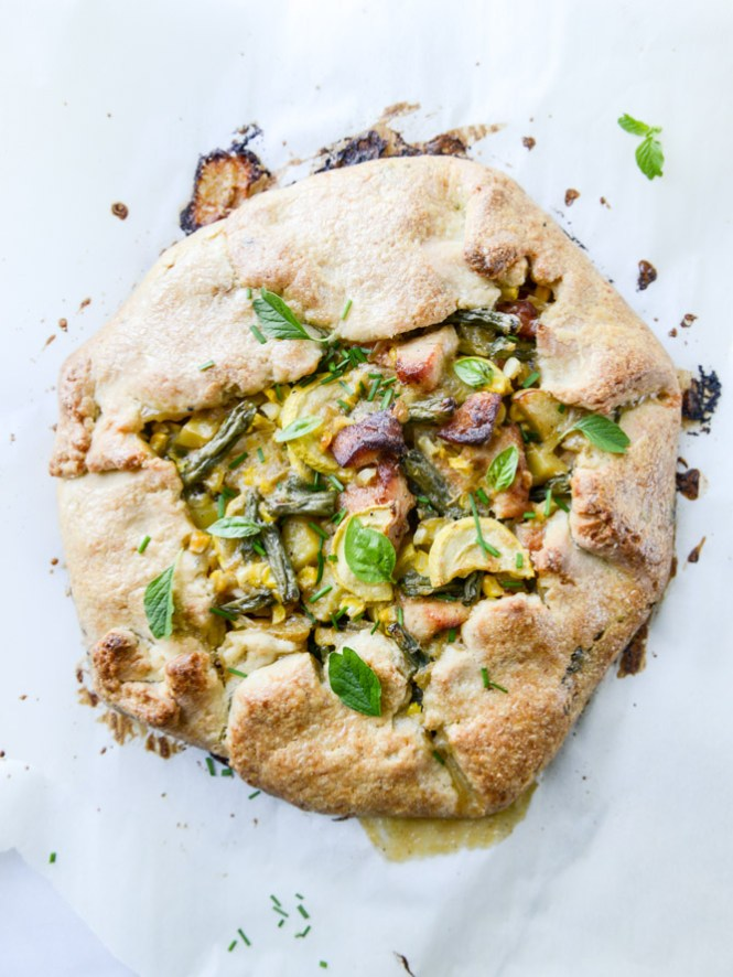 Summer Chicken Pot Pie Galette