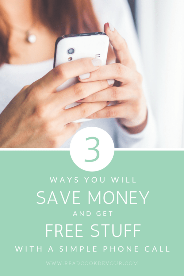 3 Ways You Will Save Money and Get Free Stuff With a Simple Phone Call