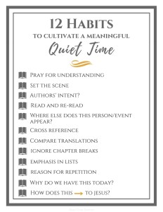 12 Habits To Cultivate a Meaningful Quiet Time   In the Word   Devotions   Studying Scripture  