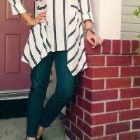 wearing > flowy stripes