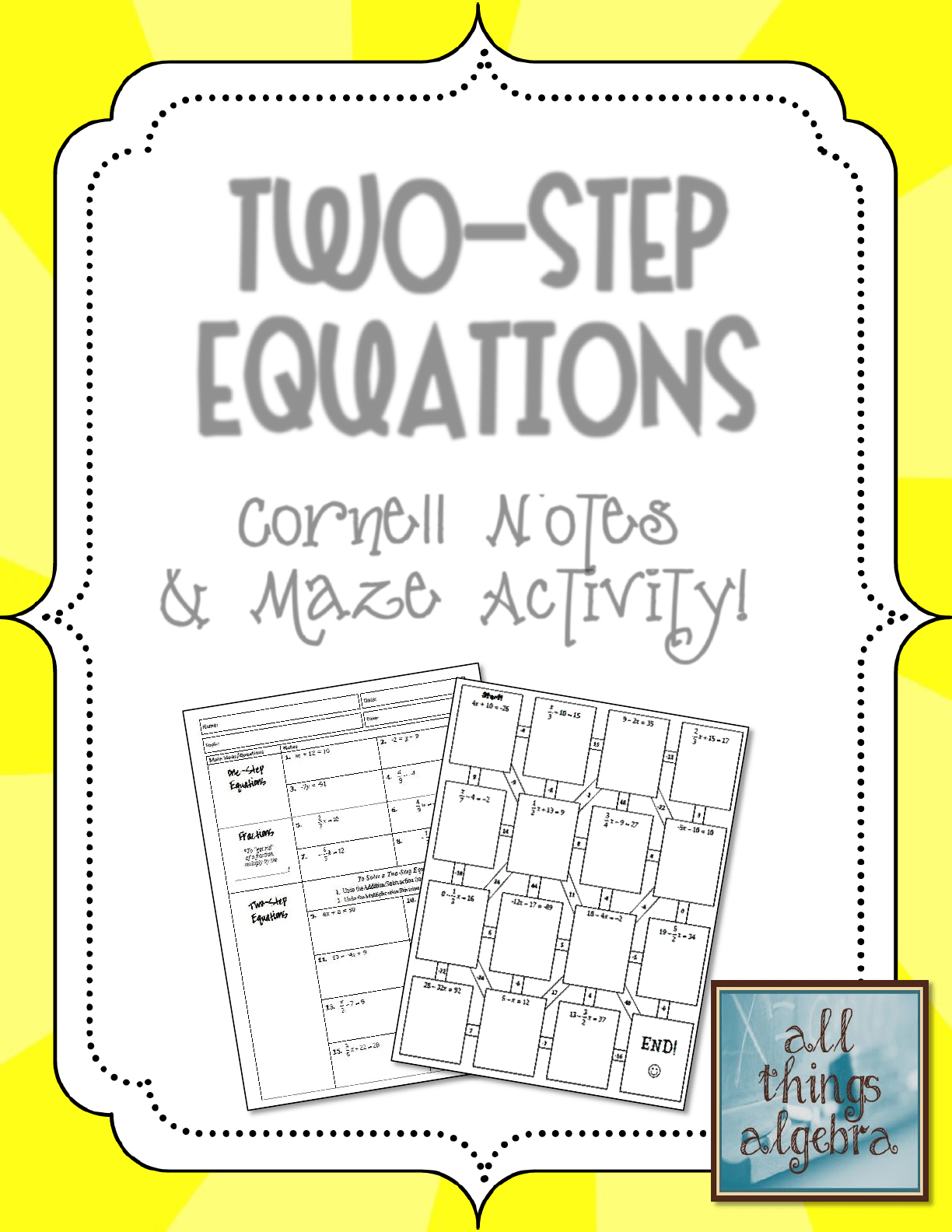 Solving Multi Step Equations Notes