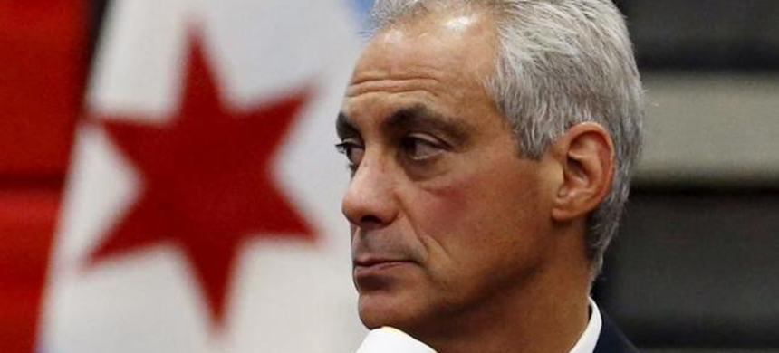 Chicago mayor Rahm Emanuel listens to remarks from an attendee at a town hall meeting on the city budget in Chicago, Illinois, United States, August 31, 2015. (photo: Jim Young/Reuters)