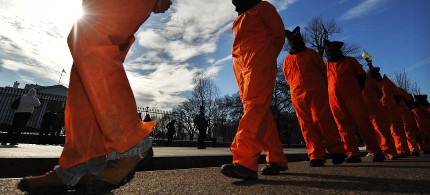 Protest against US prison at Guantanamo Bay. (photo: Getty)