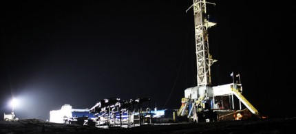 CA Cabot Oil and Gas hydraulic fracturing site in Springville, Pennsylvania, 01/17/12. (photo: Spencer Platt/Getty Images)
