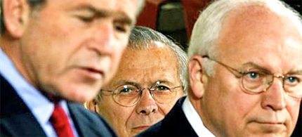 Bush, Cheney, Rumsfeld and five others have been convicted by Kuala Lumpur War Crimes Tribunal of war crimes. (photo: k000t2002/flicker)