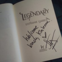 Signed copy of Legendary: