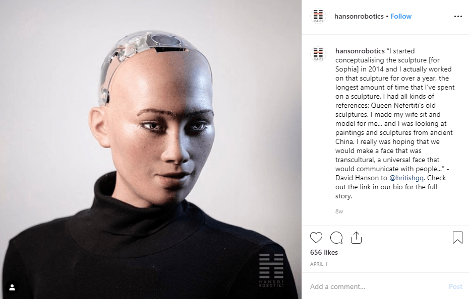 Sophia the Robot on IG