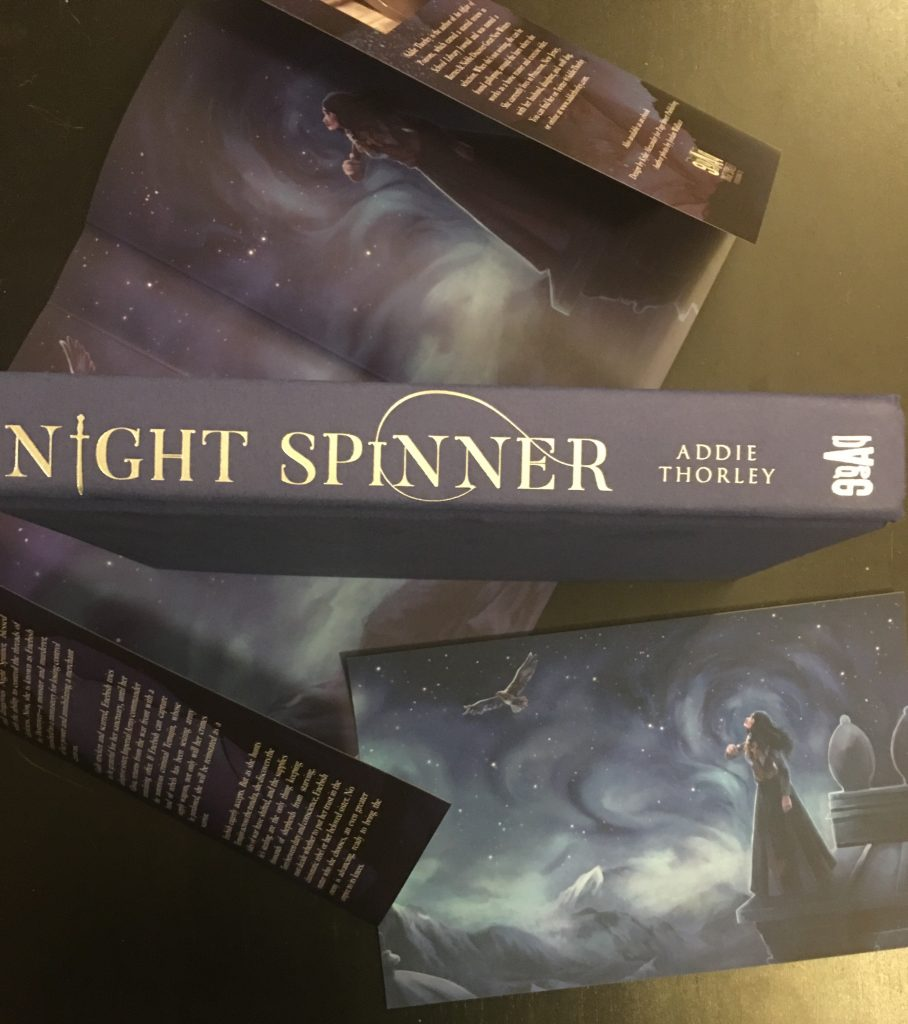 Night Spinner book with reversible dust jacket