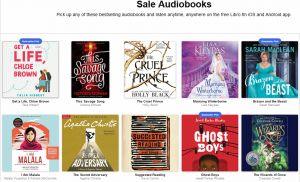 A sample of some audiobooks on sale in May 2020