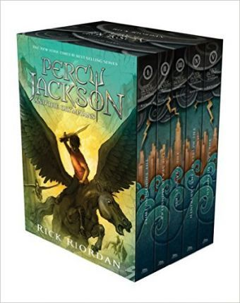 Boxed set for Percy Jackson and the Olympians