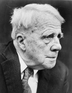 Headshot of Robert Frost in Profile. By Walter Albertin