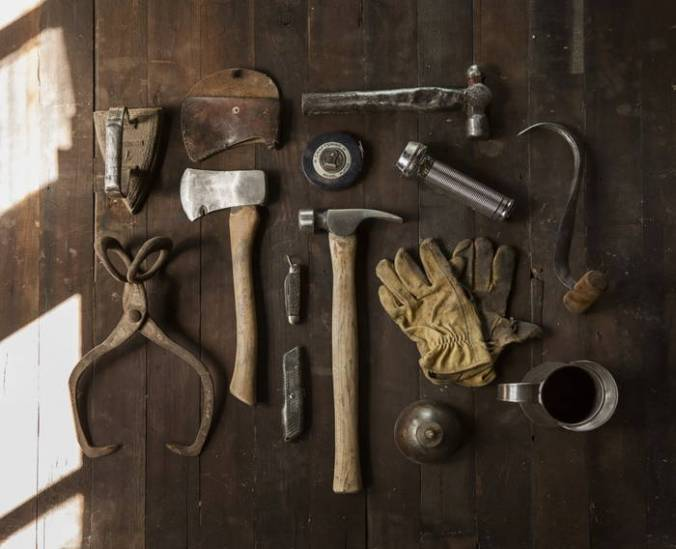 Various carpenter's tools--gear and tackle and trim.""