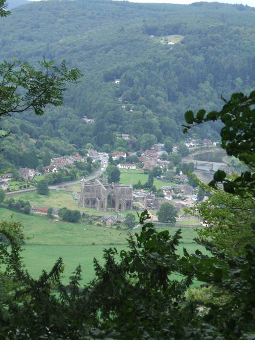 Tintern Abbey in Wye Valley.