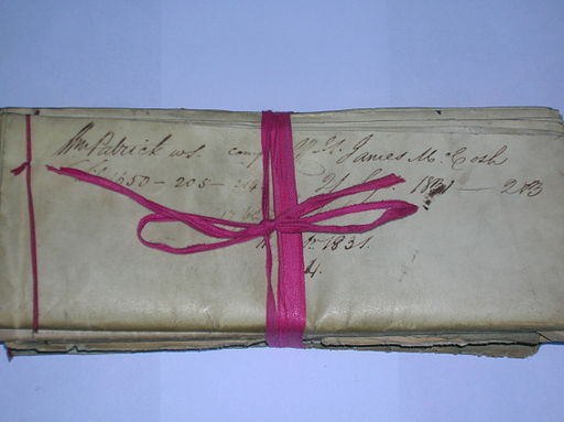 Nineteenth Century Legal Document bound with Red Tape