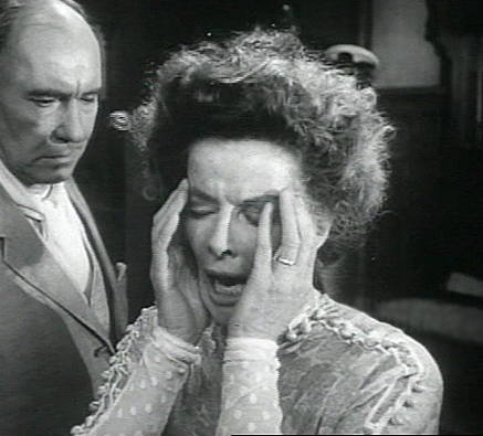 "Screenshot from Trailer for 1962 film of O'Neill's ""Long Day's Journey into Night."" Katherine Hepburn and Ralph Richardson."
