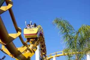 Roller coaster riders on this yellow coaster are enjoying the ride just as readers enjoy riding the structure of a good plot. But readers can appreciate plots on a deeper level too.
