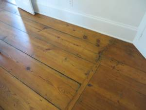 Wood floors at Frost's Stone House. It's easy to imagine authors pacing the floors in their homes as they thought about what to write next.