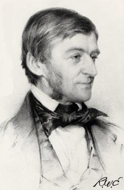 Drawing of Ralph Waldo Emerson