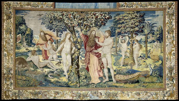 Tapestry of different scenes in Eden shows God's presence throughout Creation showing its organized nature and emphasizing God's presence throuhgout..