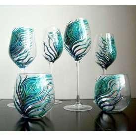 Peacock glasses