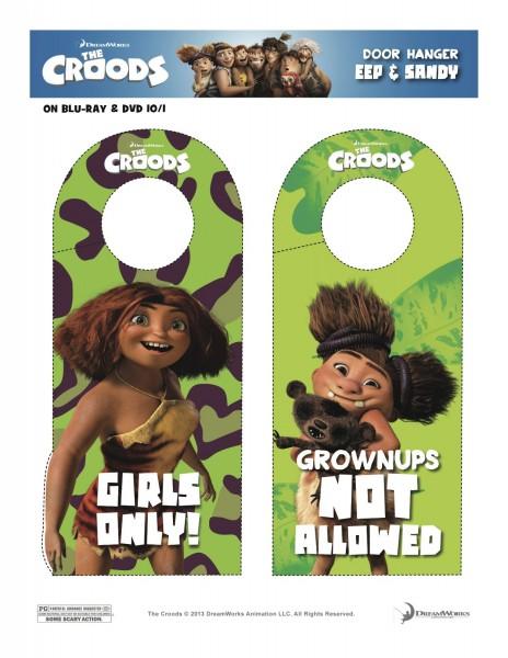 Croods Door Hangers