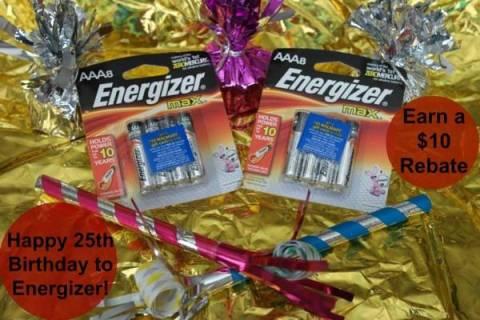 Energizer Bunny's 25th Birthday + $10 Rebate
