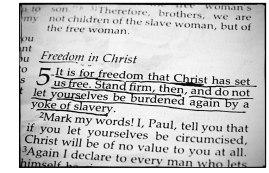 Galatians Freedom in Christ