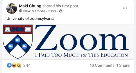 University of Zoom Meme