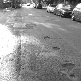 Potholes in Erleigh Road