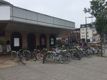 cycle parking station front