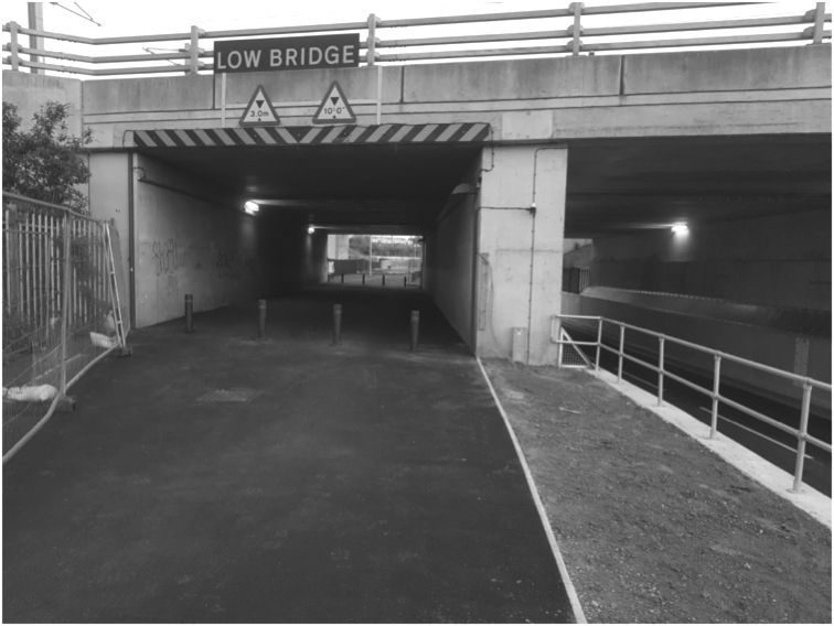 Shared use facility under bridge