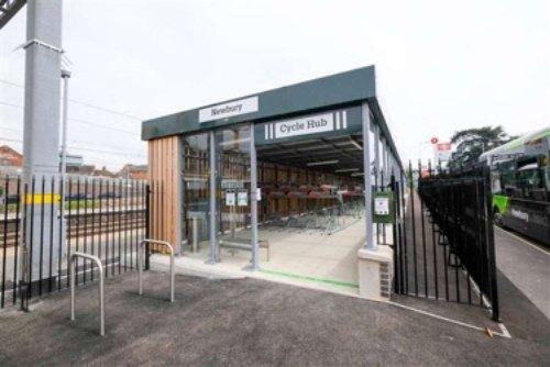 Newbury Station cycle hub