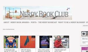 top kid lit blog nerdy book club home page screenshot