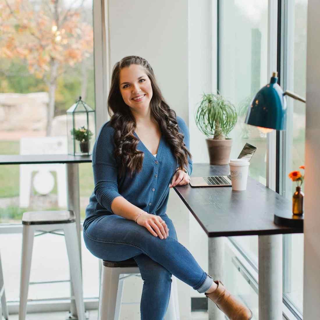 Kat Boogard working as a freelance writer