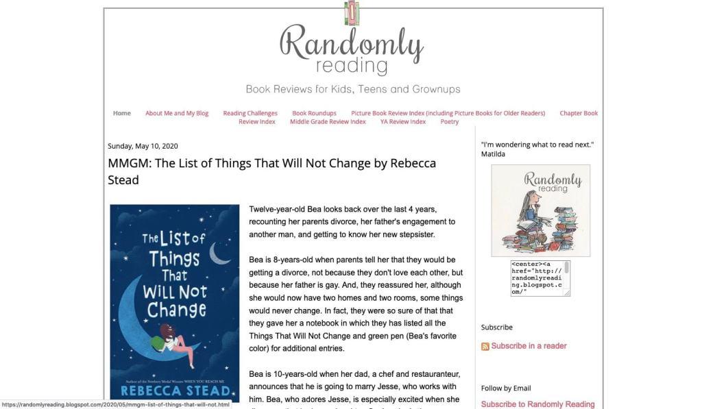 best kid lit blogs - randomly reading