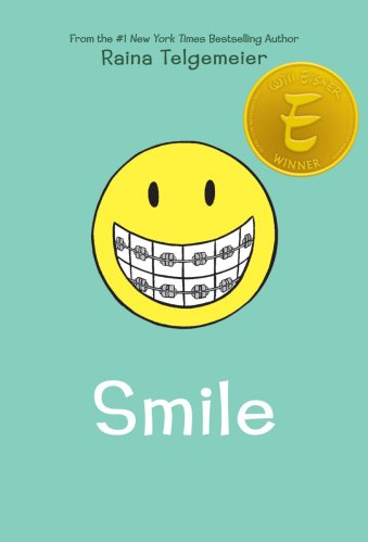 smile - raina telgemeier - best graphic novels for tweens